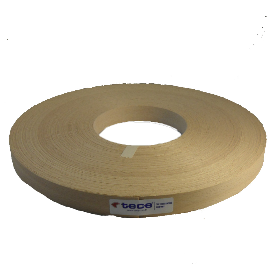 Fleece backed veneer edge band Beech 22mm - Tece K01