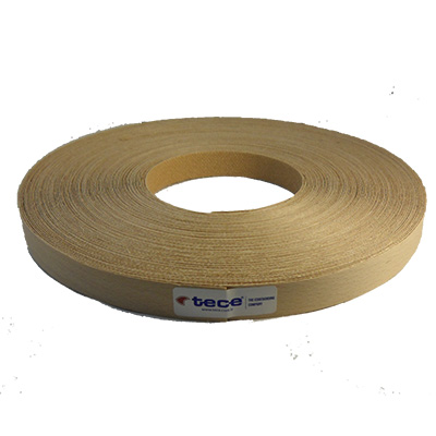 Pre-glued veneer edge band Beech 22mm - Tece K01