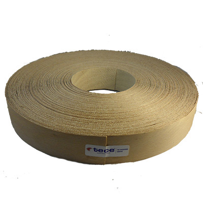 Fleece backed veneer edge band Beech 44mm - Tece K01