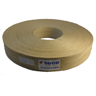 Fleece backed veneer edge band Oak 44mm - Tece K03