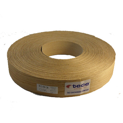 Fleece backed veneer edge band Oak 88mm - Tece K03