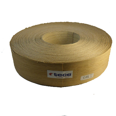 Pre-glued veneer edge band Oak 65mm - Tece K03