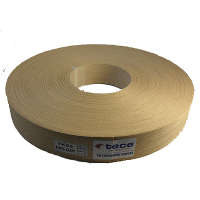 Fleece backed veneer edge band Engineered oak 44mm - Tece YK23