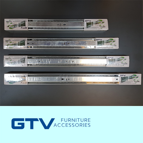250mm H45 Ball bearing slides soft closing – GTV