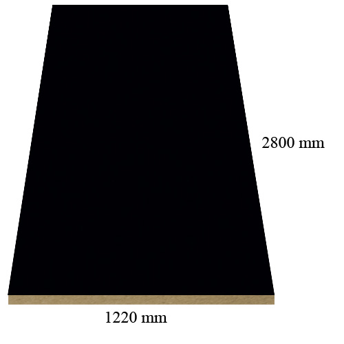 S 040 Black - super matte - PVC coated 18 mm MDF