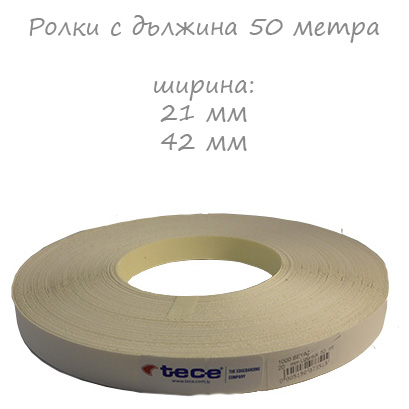 21mm pre-glued Melamine edge band 1000 White Tece