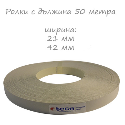 21mm pre-glued Melamine edge band 1060 Steel grey Tece