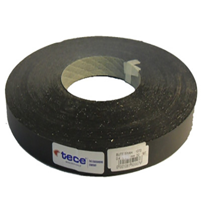 42mm pre-glued Melamine edge band 1070 Black Tece