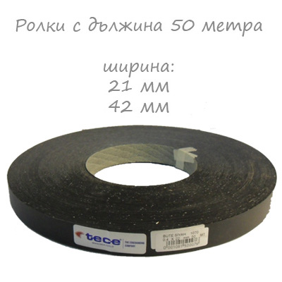 21mm pre-glued Melamine edge band 1070 Black Tece