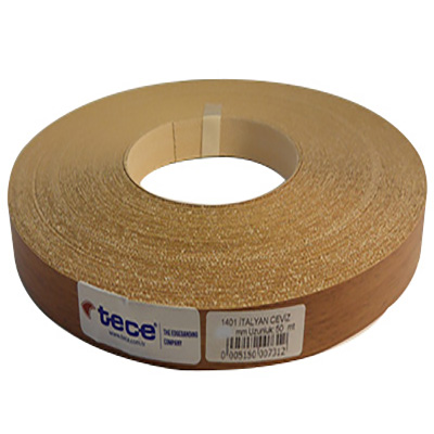 42mm pre–glued Melamine edge band 1401 Walnut venedik Tece
