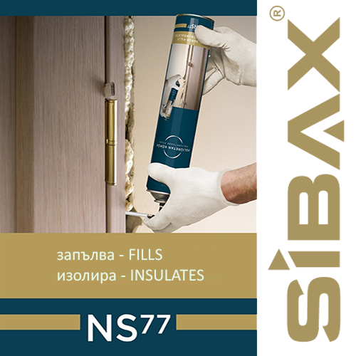 SIBAX NS77 manual slightly inflatable polyurethane foam – 750ml