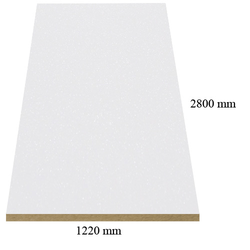 483 Ultra white galaxy high gloss - PVC coated 18 mm MDF