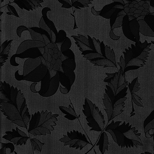 465 /169 Black flower high gloss - PVC coated 18 mm MDF