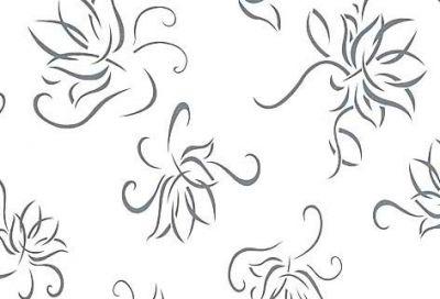 4 – 6153/452 Бяло цвете - 18 мм плоча мдф гланц