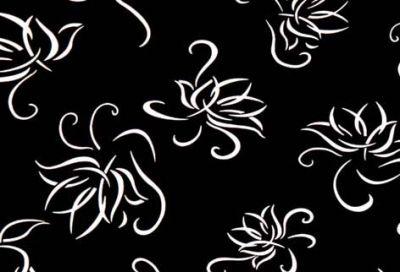 4 – 6154 Черно цвете - 18 мм плоча мдф гланц