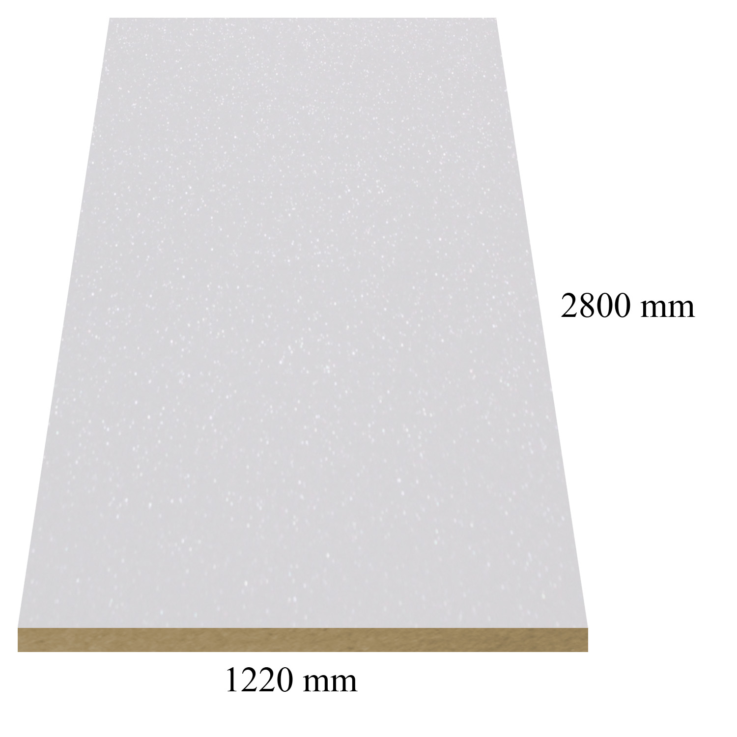 1289 White galaxy high gloss - PVC coated 18 mm MDF