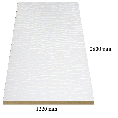 Y03 White sahara gloss - PVC coated 18 mm MDF