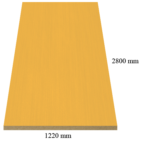M25 Gold inox gloss - PVC coated 18 mm MDF М25