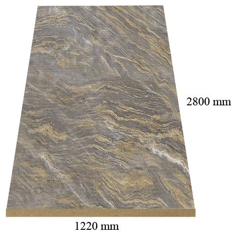 M34 Antik onix gloss - PVC coated 18 mm MDF